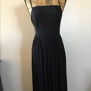 NWT Urban Outfitters Long black lace up back dress